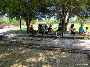 Photo: Art Morris is conductor for Bill Smith at Sweetwater.      HALS Public Run Day 2015-0919 RPW