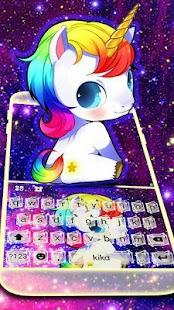Kawaii Unicorn Keyboard Theme - náhled