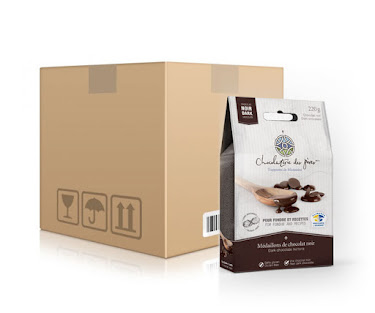 Chocolat Médaillons de chocolat noir pour fondue et recettes  Boîtes maison (épicerie)