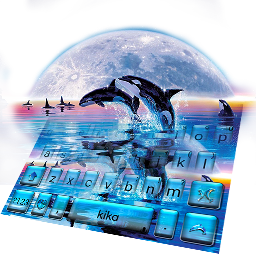 Jumping Whale Keyboard Theme Icon