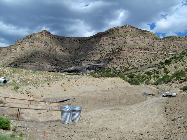 Below the Lila Canyon mine