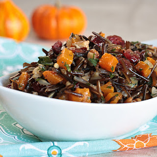 Wild Rice Pilaf With Butternut Squash, Cranberries, and Pecans [Vegan]