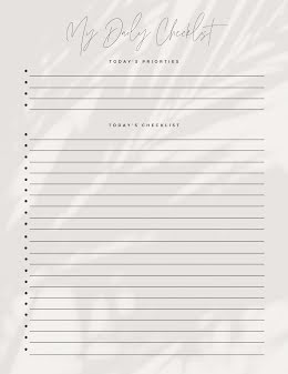 Daily Checklist Script - Planner item