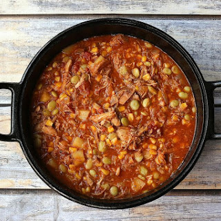 Classic Brunswick Stew With Pork and Chicken.