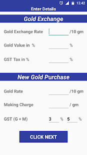 GST Gold Exchange Calculator - náhled
