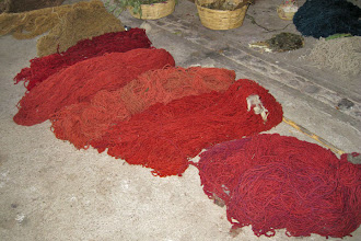 Photo: Teotitlan Rug Weaving - Dyed Wool