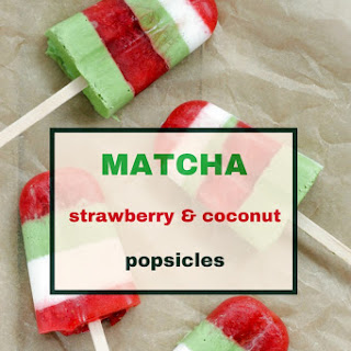 Matcha, Strawberry and Coconut Popsicles Recipe