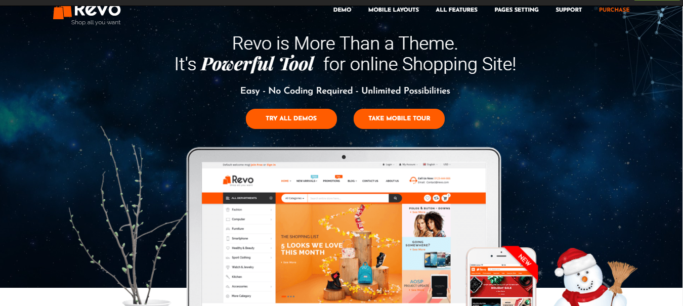 Revo - Opencart multi vendor theme