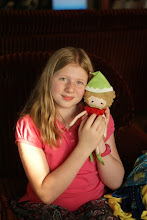 Photo: One of Kate's Christmas presents - this is a hand made doll made with love by mommy.