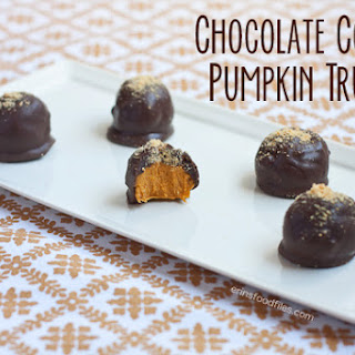 Chocolate Covered Pumpkin Truffles