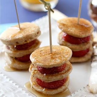 Lemon, Ginger & Strawberry Pancake Skewers