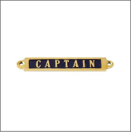 Mässingsskylt - Captain