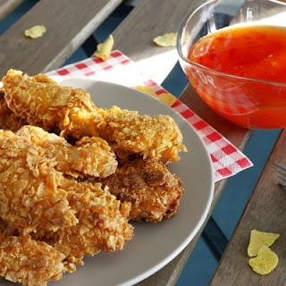 Crispy Cornflake Fried Chicken Strips