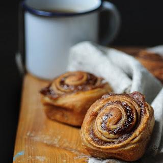 Cinnamon Buns with a Chestnut Swirl.