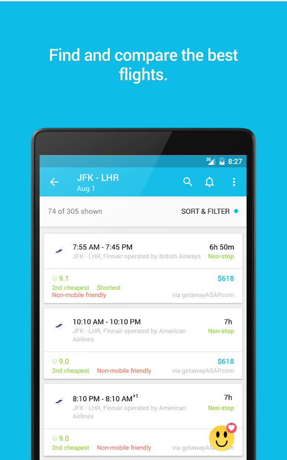 Skyscanner Flights, Hotel, Car- screenshot