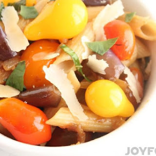 Sweet n Spicy Eggplant Pasta–Make Your Back-to-School Meals Easy and Delicious