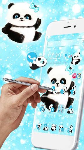 Wallpaper Panda Biru Rahman Gambar