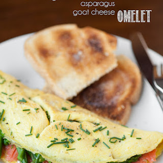 Smoked Salmon Asparagus Goat Cheese Omelet