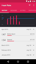Runtastic Heart Rate Monitor Screenshot 2