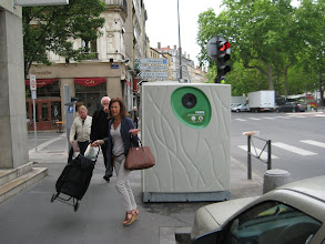 Photo: Recycling bins like this were everywhere.  Good for the French!