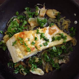 Fried Cod With Onion.