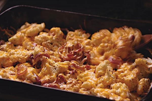 Cheesy Roasted Cauliflower & Onions Recipe
