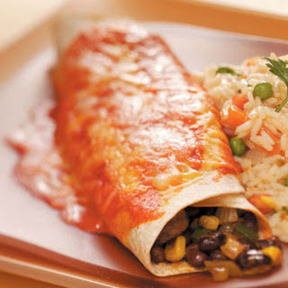 Black Bean Veggie Enchiladas.