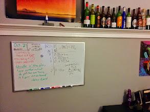 Photo: Na tabuli v domě kde jsme bydleli důkaz o nespočetnosti množiny reálných čísel. Proč? To netuším.