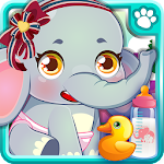 Baby Elephant Pet Care Icon