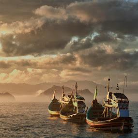Three Boats by Sefanya Dirgagunarsa - Transportation Boats ( CARS, TRUCKS, TRANSPORTATION, HOT RODS )