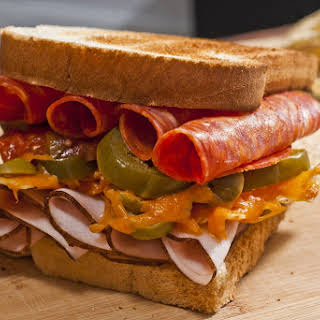 Cold Cut and Nacho Sandwich.