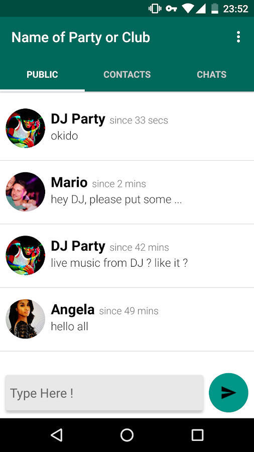 EnterTheParty Messenger- screenshot
