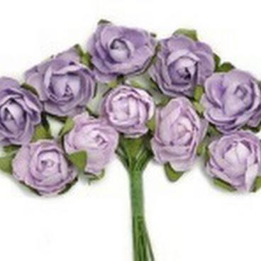 KC-Mini Paper Blooms(Amethyst)