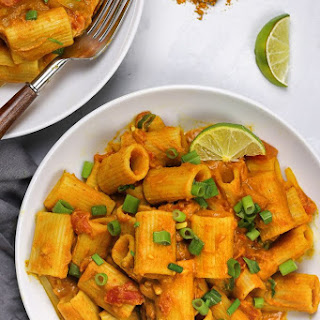 Vegan Pumpkin Curry Pasta Recipe
