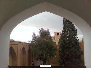 Photo: نمايي از باغ دولت آباد از طبقه دوم عمارت