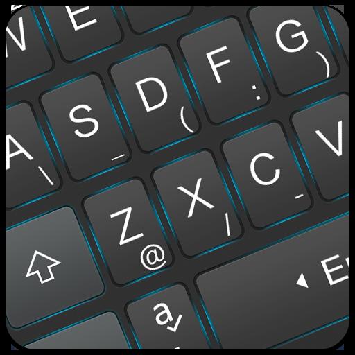 Simple Neon Blue Keyboard Theme