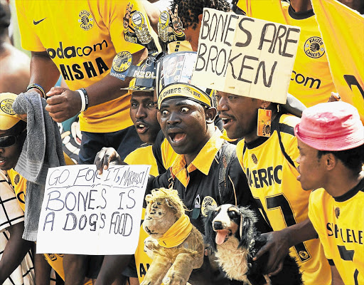 Kaizer Chiefs fans at a packed Soweto derby, which can draw crowds of 90,000-plus.