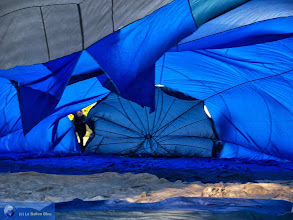 Photo: Gonflage de montgolfière