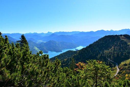 Walchensee, Lake Herzogstand, Mountain