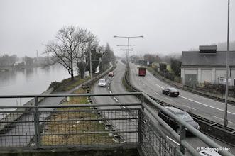 Photo: Blick vom Berger Steg in Richtung B10 nach Esslingen