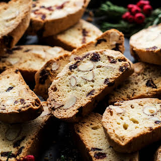 Eggless Biscotti With Almonds and Cranberries.