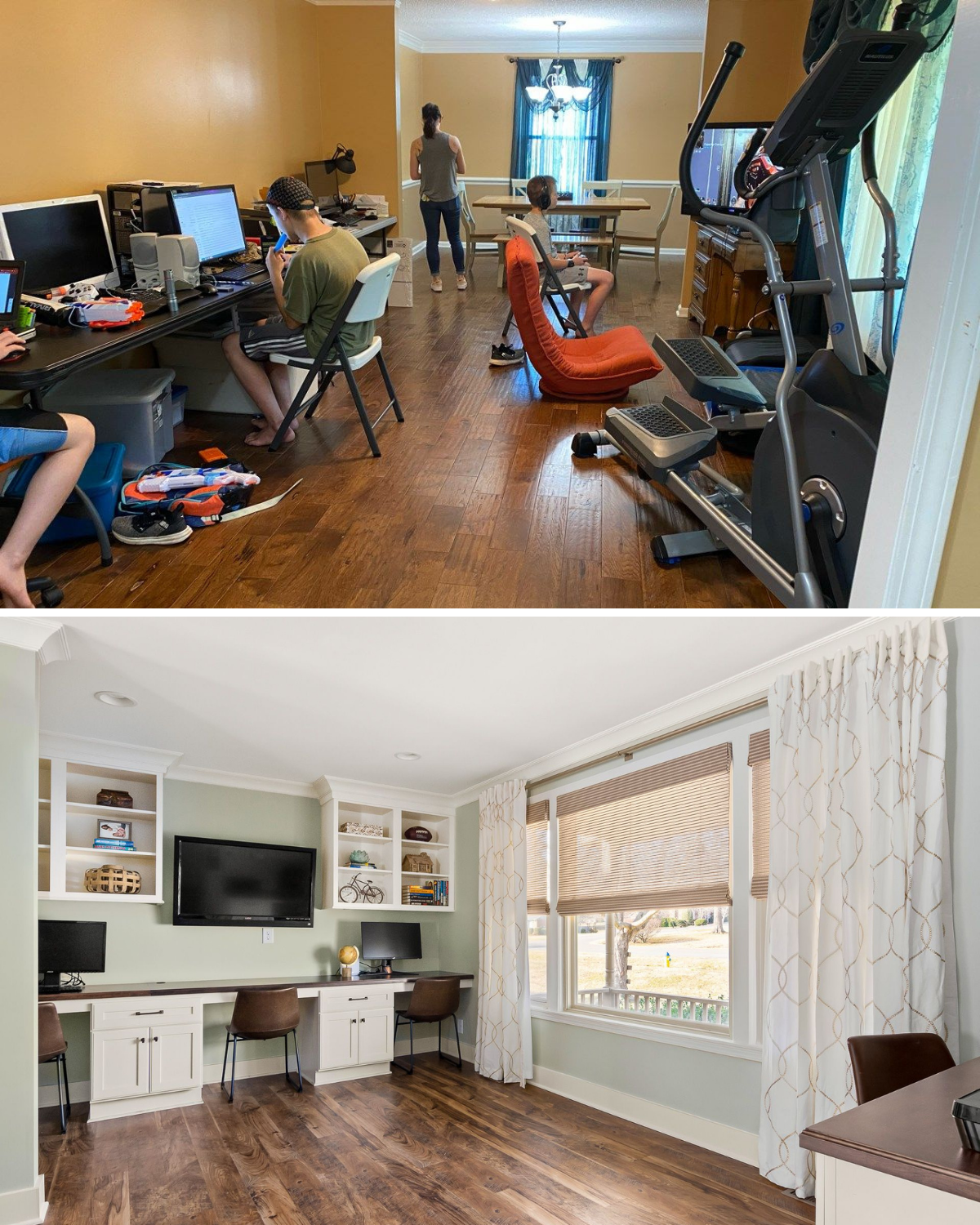superior construction and design Lebanon, TN 1970s ranch reno office space before and after