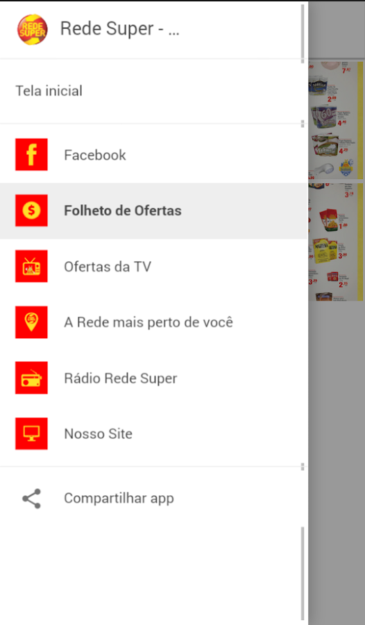 Rede Super Supermercados- screenshot