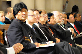 Photo: Evo Morales found the camera. Hola Evo!