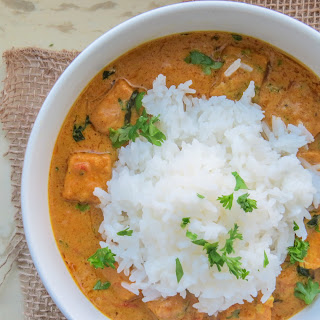 West African Peanut Curry with Tofu.