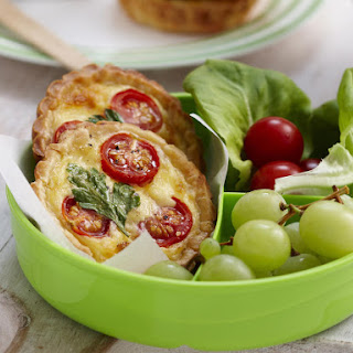 Tomato and Cheese Mini Quiches.