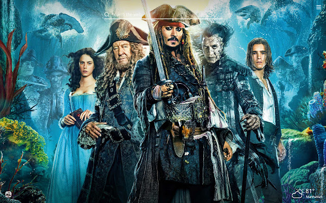 Pirates of the Caribbean HD New Tab Theme