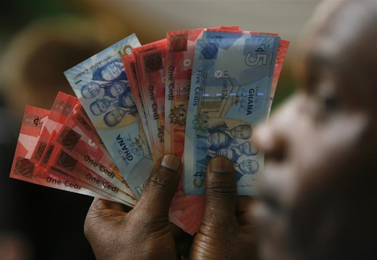 Ghana currency. Picture: REUTERS
