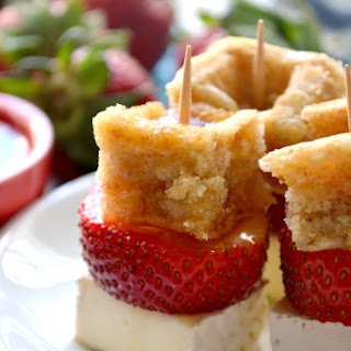 Strawberry-Brie Waffle Bites Recipe