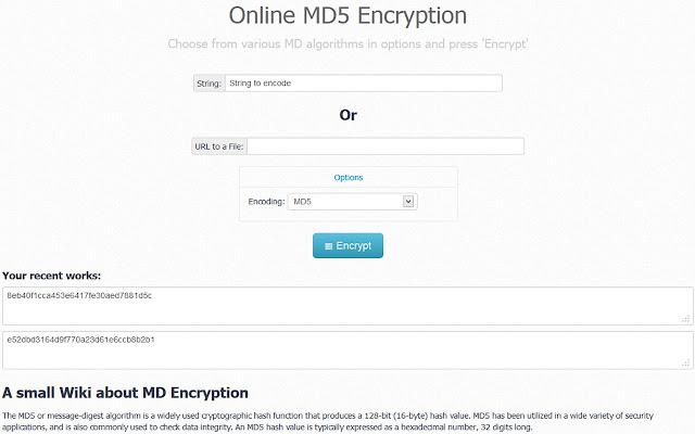 MD5 Encrypter
